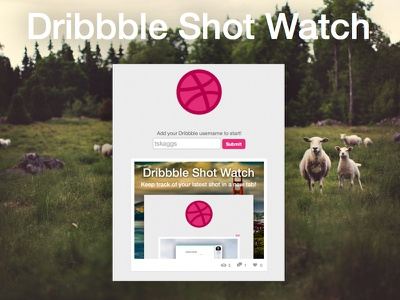 Dribbble Shot Watch [update] chrome extension simple