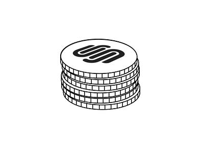 Squarespace Commerce Coins Icon icon money squarespace commerce coins laundry simple