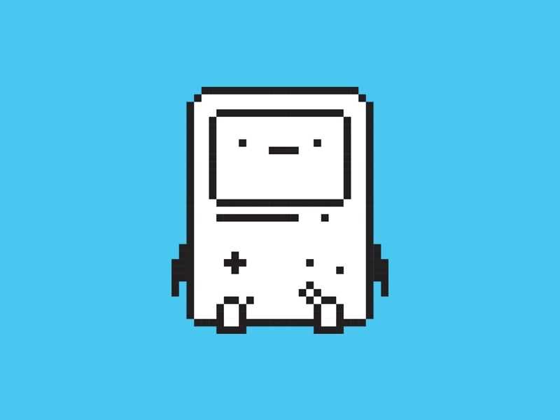 BMO adventure time jake finn retro apple mac os7 pixel minimal