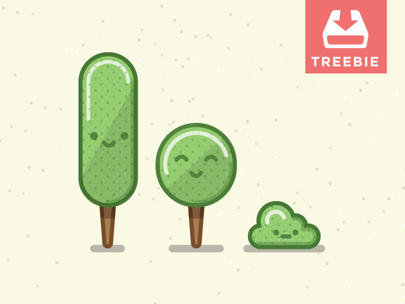 Tree + Freebie = Treebie freebie treebie free ai eps vector trees smile download
