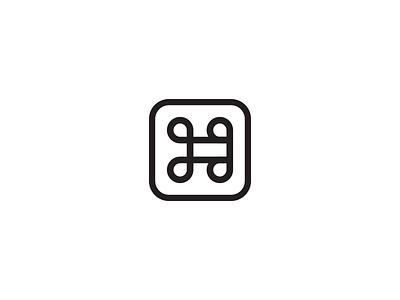 JG monogram black and white symbol computer initials logo icon command monogram