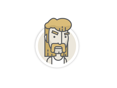 WIP Secret Project character illustration avatar mustache mullet