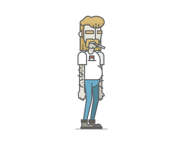 Basco is my name... illustration game character cigarette mullet trailer