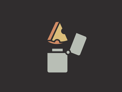 Wisconsin Rocks - Cheese Lighter music logo illustration zippo lighter icon cheese rock on rock wisconsin