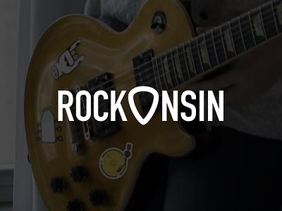 Rockonsin Logo trade pick logo icon music wisconsin milk guitar rock