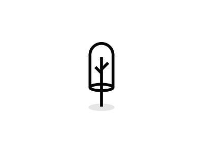 Tree web flat clean simple line tree icon