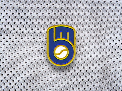 Milwaukee Brewers Throwback Reimagined sports major league mlb glove baseball brewers milwaukee