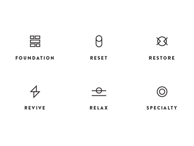 Category Icons line minimal wellness health category icons