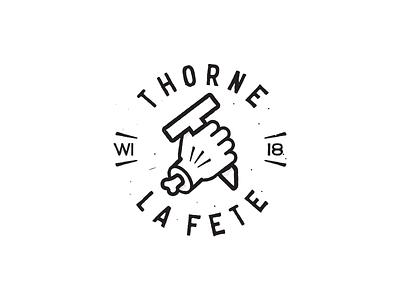 Thorne La Fete event logo vintage wisconsin celebration