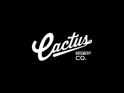 Cactus Brewery Type Treatment beer brewery cactus typography logo