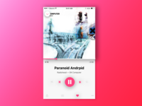 Daily UI 009 — Magenta Music Player
