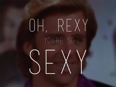 Sexy Rexy rex manning day empire records photography typography