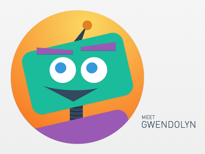 Meet Gwendolyn avatar robot illustration sketch