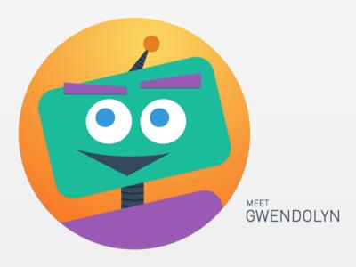 Meet Gwendolyn avatar robot illustration sketch