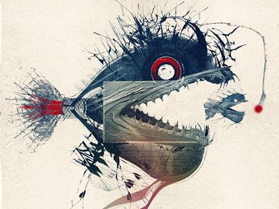 Deep fish illustration personal deep sea