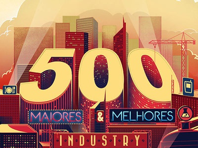 500 Best Companies cover cover illustration cityscape editorial press