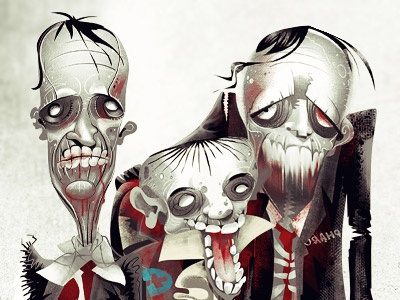 Zombies finace zombie press illustration editorial