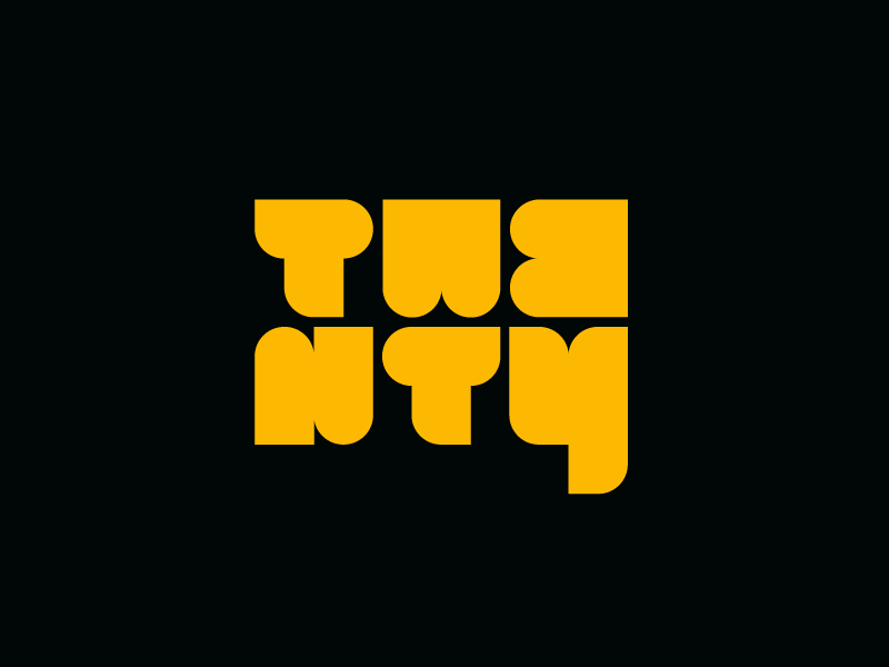 twenty ideas typograhy concept lettering twenty