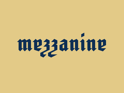 #41 gothic typography logo lettering concept daily mezzanine