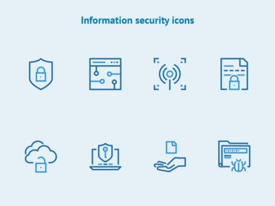 Information security icons free