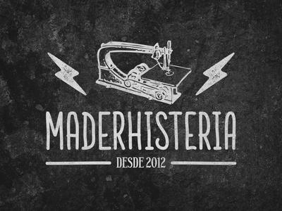 maderhisteria logo logo illustration typography type design woodletters