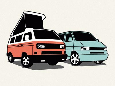 camper van illustration illustration design camper classic van logo vector