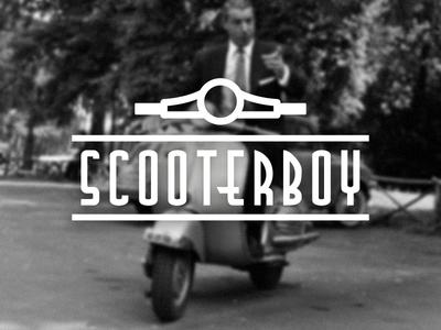 Scooterboy logo illustration typography classic scooter vespa lambretta