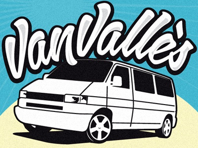 VanVallès poster lettering vector