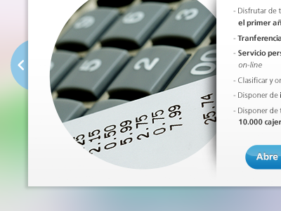Open account detail ui gui ux webdesign bank