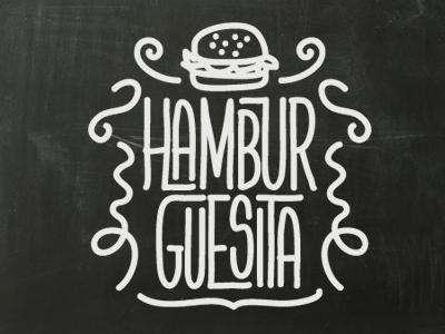 Hamburguesita sketch typography lettering calligraphy handwriting font type