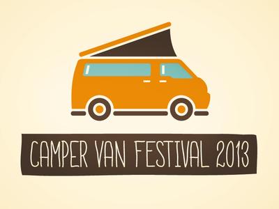 Camper Van Festival 2013 logo illustration typography type design van camper classic