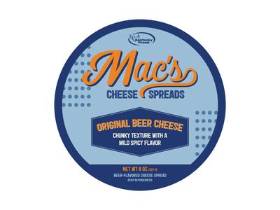 Macs Original Beer Cheese Label