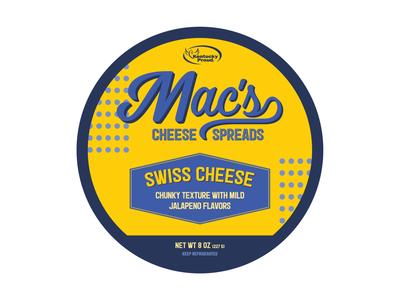 Macs Swiss Cheese Label