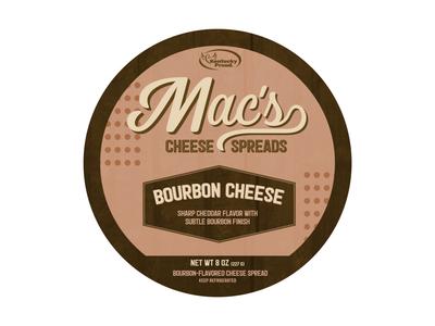 Macs Bourbon Cheese Label