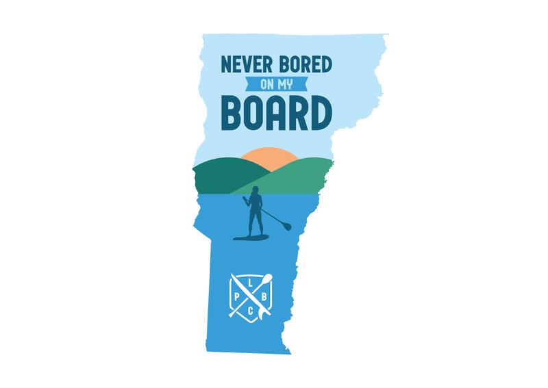 LCPB Vermont lake champlain lake paddleboard vermont vector design illustrator branding graphic logo