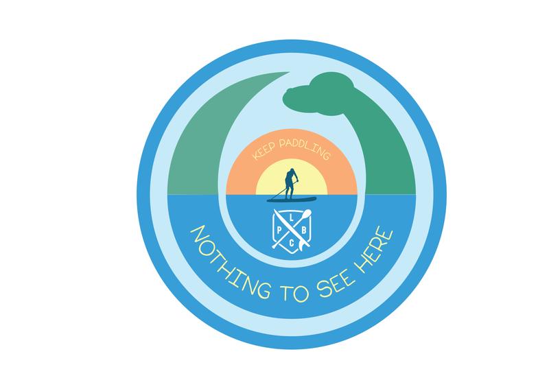 LCPB Champ lake lake champlain vermont paddleboard vector illustration design illustrator branding graphic logo