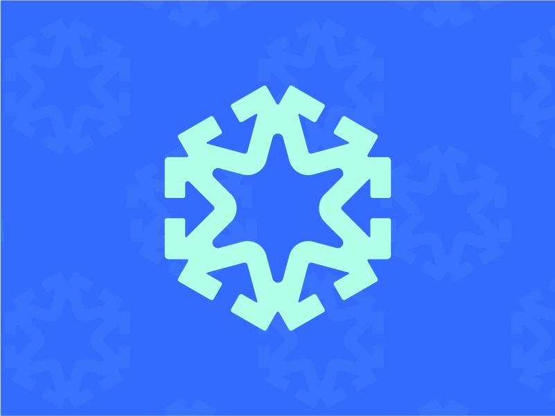 Ski Resort snow flake winter resort ski snowflake snow icon graphic branding daily logo challenge logo