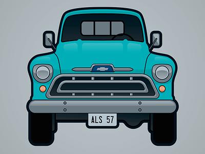 Truck Sticker sticker vintage truck classic truck truck design illustrator vector illustration
