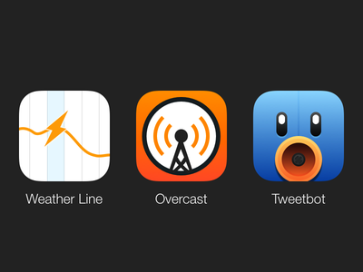Favourite App Icons (Sketch) tweetbot overcast weather line free sketch ios icon