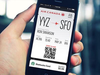Boarding Pass (Passbook) passbook boarding pass airline ios development toronto air canada case study iphone