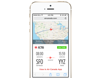 Share A Flight air canada messages flights airline ios development toronto ios iphone case study sharing