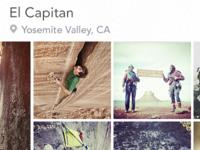 Climbed Timeline iphone ui rock climbing ios timeline