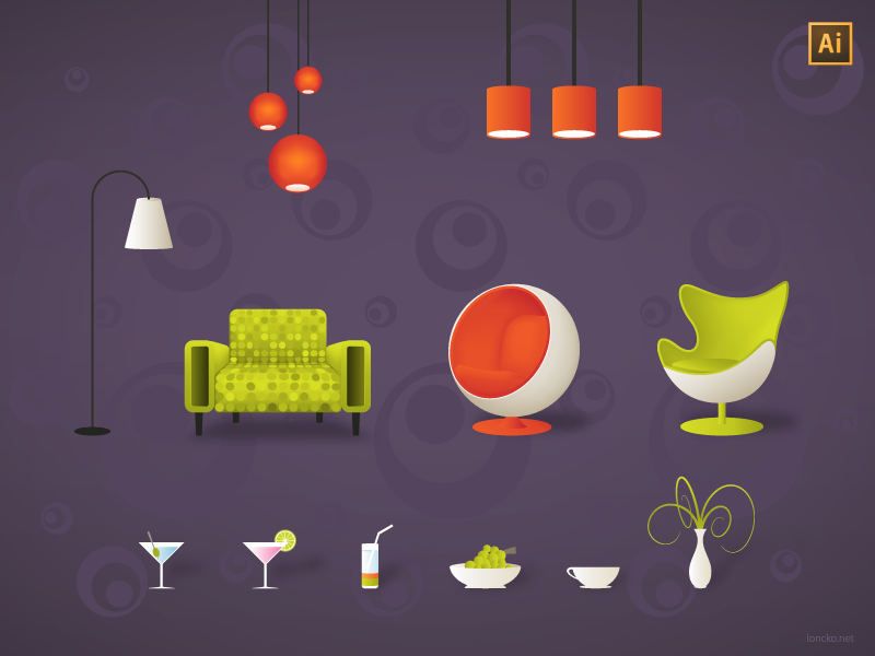 Furniture free vector
