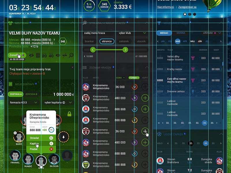 Fantasy Football League fantasy football league game online grid wip dashboard soccer