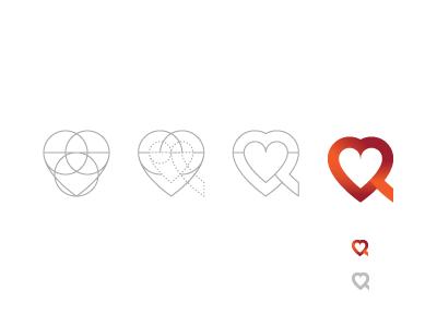 V + R, logo v r love heart red wip logo bookmark