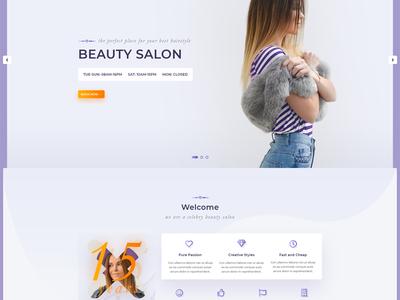 Besalon | Beauty Salon One Page PSD Template