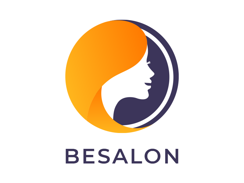 Besalon - Logo for Beauty Salon nails manicures makeup hairstyle hair creative color care booking besalon beauty