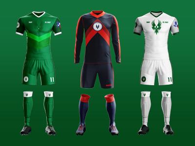 Soccer Uniform Design 3d render illustration sports apparel clothing