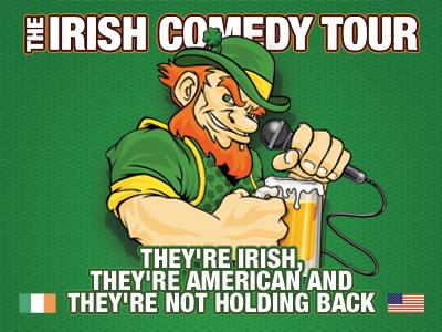 The Irish Comedy Tour logo brand identity banner ad illustrator photoshop