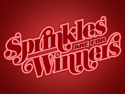 Sprinkles are for Winners design retro illustrator illustration typography t-shirt apparel